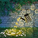 Solar Giesskanne Garten Lichterkette,Groß Stern Außen Gießkanne Lichterkette ,Wetterfest Dusche Garten Dekoration, Led Giesskanne Garten Solar Wasserfall Lichter für Gehweg Hof Terrasse Rasen