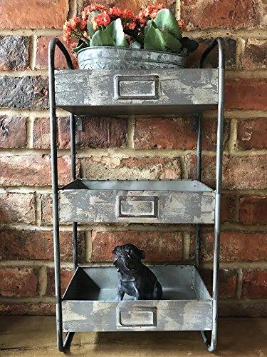 Estantería de pared para armario de metal industrial vintage