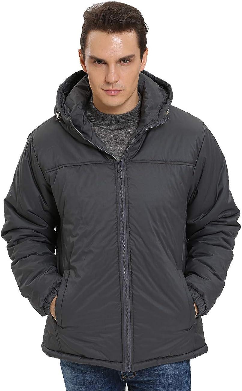 Ranking TOP11 iloveSIA Mens Ranking TOP17 Parka Jacket Warm Fuzzy Hood Lining Coat with Wind
