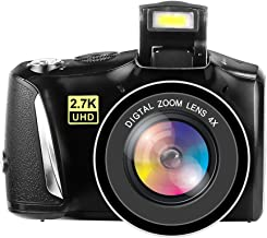 Digital Camera Full HD 2.7K Vlogging Camera 48.0 Megapixels YouTube Camera with 4X Digital Zoom and 3.0 Inch Screen Compac...
