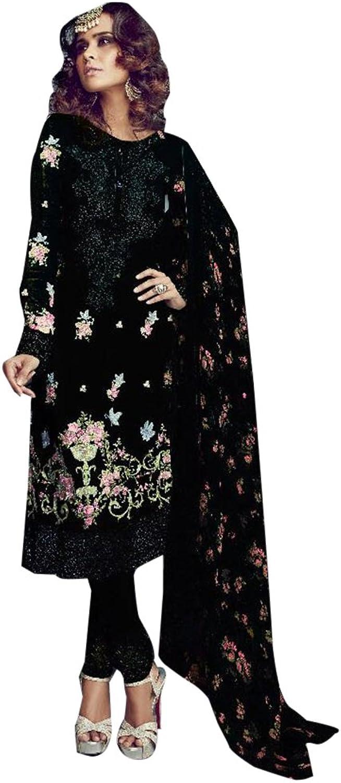 ETHNIC EMPORIUM Bollywood Straight Formal Pants Style Salwar Kameez Muslim Eid Designer 944