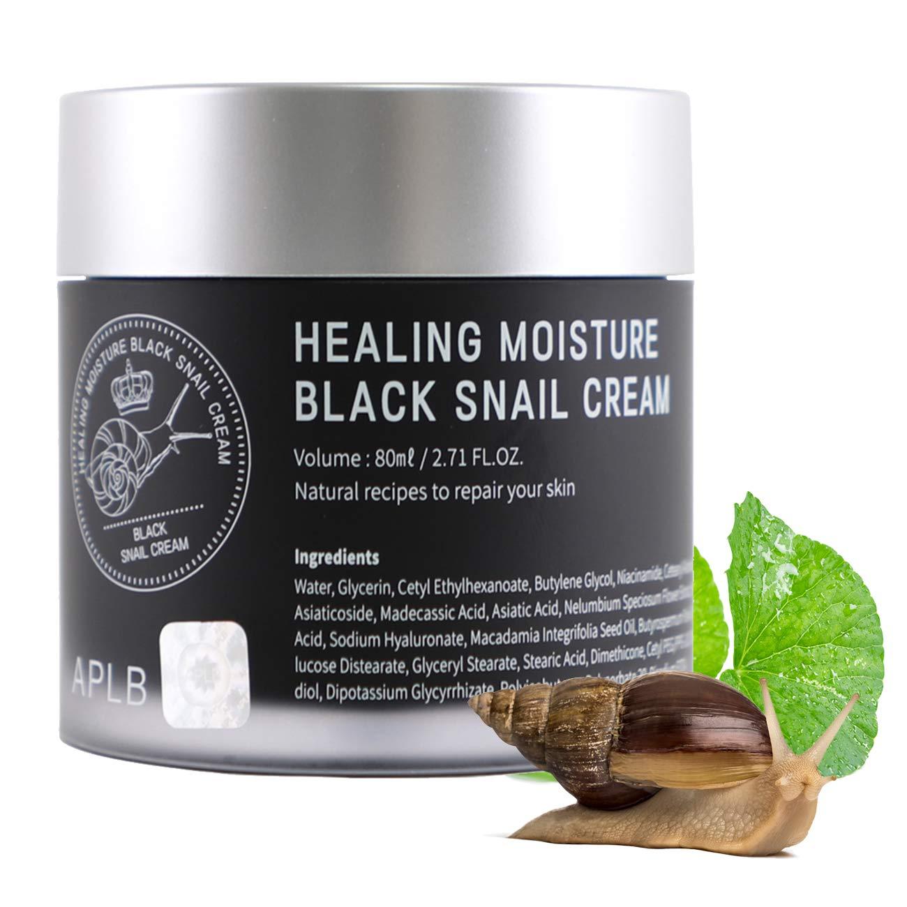 Surprise price Gorgeous APLB Healing Black Snail Cream Korean Moisturizer 2.71FL.OZ. S