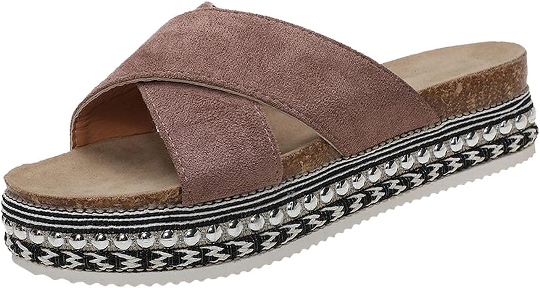 Super special price Yuanjay Women's Summer Casual National uniform free shipping Rhinestone Platform Shoes Flip-Flo