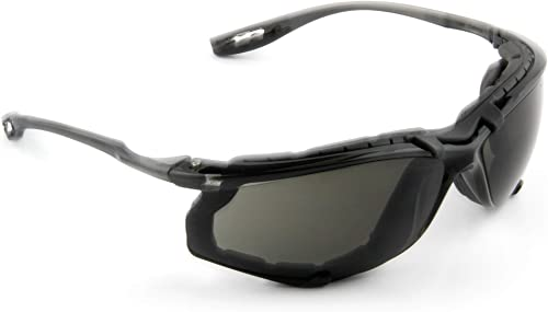 3M Safety Glasses, Virtua CCS, ANSI Z87, Anti-Fog, Gray Lens, Black Frame, Corded Ear Plug Control System, Removable ...