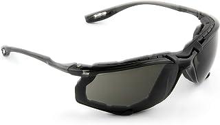 3M Safety Glasses, Virtua CCS, ANSI Z87, Anti-Fog, Gray Lens, Black Frame, Corded Ear Plug Control System, Removable Foam Gasket