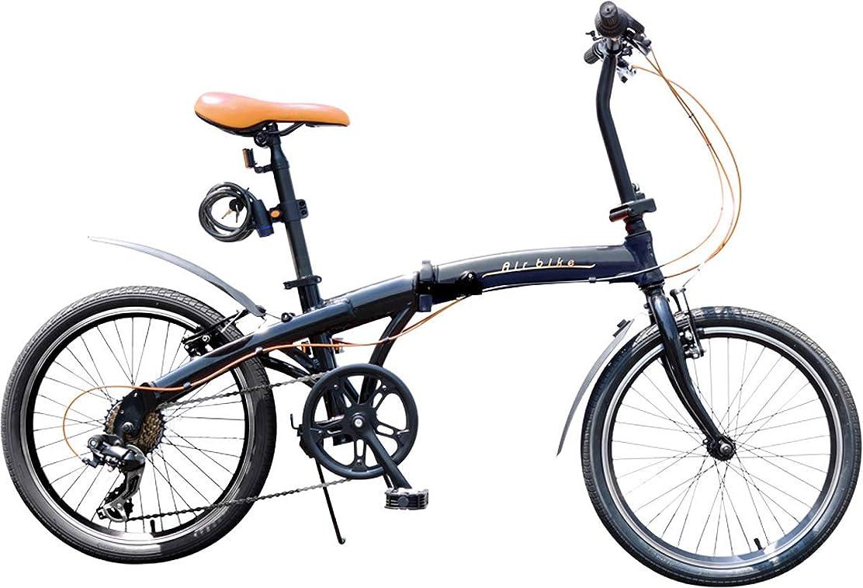 早熟ウナギ手順Airbike 折りたたみ自転車 ミニベロ 20インチ シマノ7段変速 軽量アルミフレーム