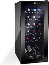 Display4top Boissons Vin Conservation Réfrigérée Cave à Vin Réfrigérateur Supporte 18 bouteilles, Porte en verre trempé, p...