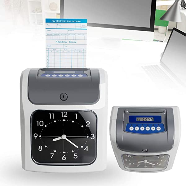 Proximity Time Clock For Employees Denshine Electronic Employee Analogue Time Recorder W Card Monthly Weekly Bi Weekly Time Clock For Small Business USA Shipping