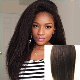 JYL Silk Top Full Lace Glueless Brazilian Human Virgin Hair Italian Yaki Silk Top Glueless Wig Natural Hairline Bleached K...