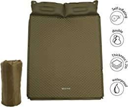 WILD FUN 2 Person Double Self-Inflating Sleeping Pad with Pillow,Lightweight,75