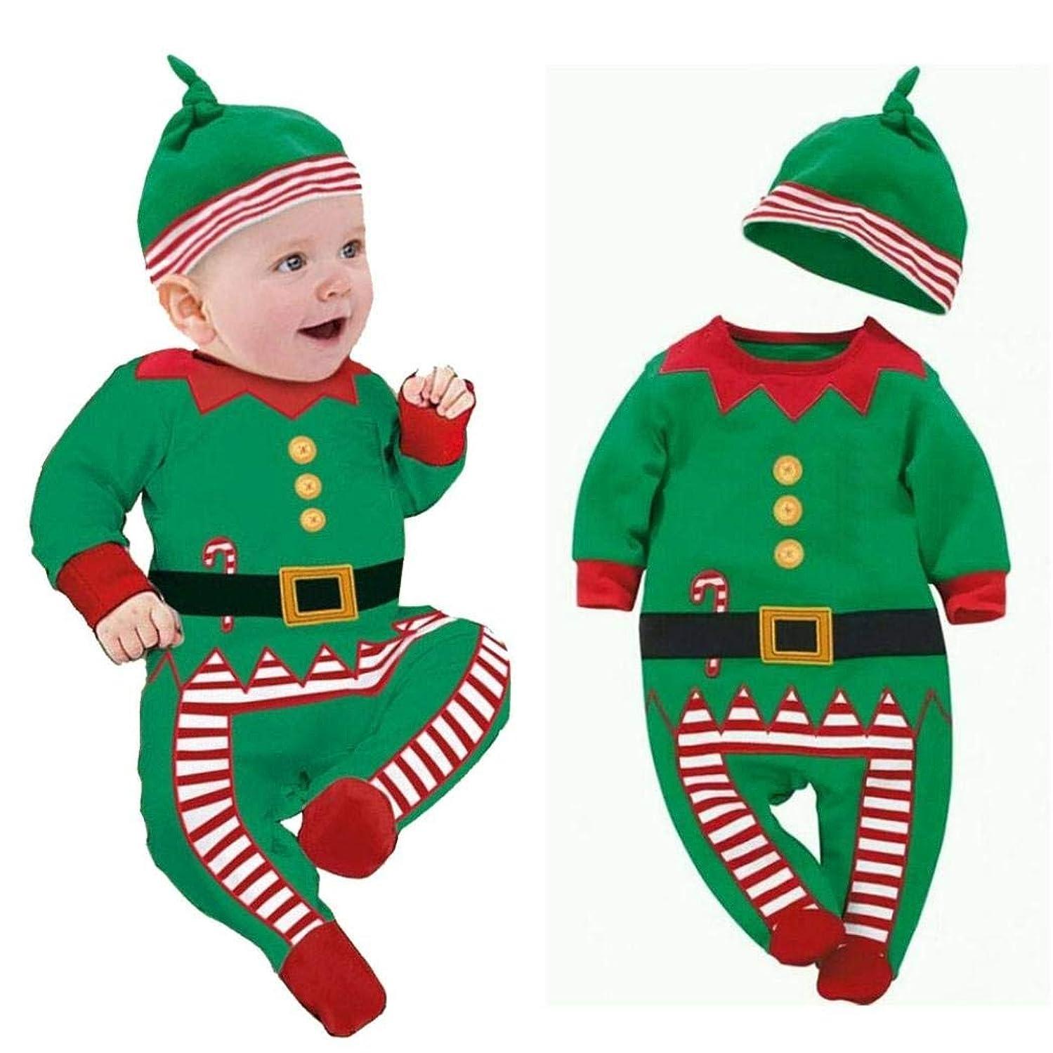 Gotd Newborn Baby Boy Girl Romper Hat Cap Photo Outfits Christmas Gift