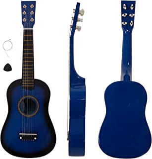 Beginner Acoustic Guitar with Pick and Steel String, 23 inch Mini 6-String Acoustic Guitar Bundle Kit Stringed Musical Instrument Bundle for Students Children Adult (US STOCK) (23inch, Blue)
