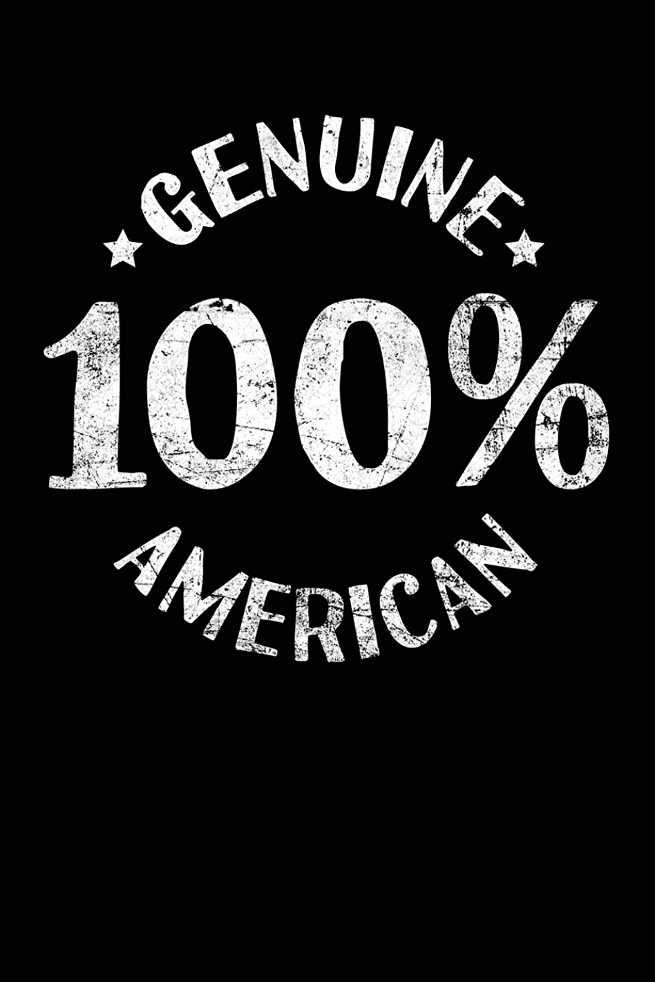 Genuine 100% American: Lined Travel Journal Notebook Diary