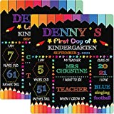First Day of School Chalkboard, Back to School Board Sign for First Day Last Day of School, My First Day Large Chalk Board Sign Photo Prop, 10x12 inch Reusable Double Sided Photo Prop for Girl Boy Kid