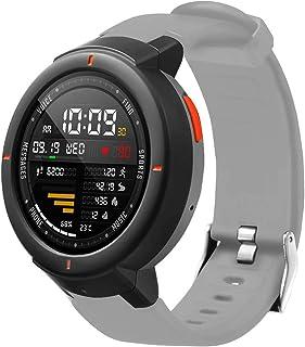 Soft Silicone Watch Band Replacement Bracelet Strap Compatible con Huami Amazfit Verge, riou Pulseras de Repuesto Correa de Silicona de Color sólido Amazfit Verge Huami 3