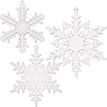Azude Crystal Acrylic Snowflake Christmas Ornaments, 12 pcs