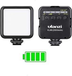 ULANZI VL49 2000mAh LED Video Light w 3 Cold Shoe Mounts Type C Charging Soft Light Panel for DJI OSMO Mobile 3 Pocket Zhi...