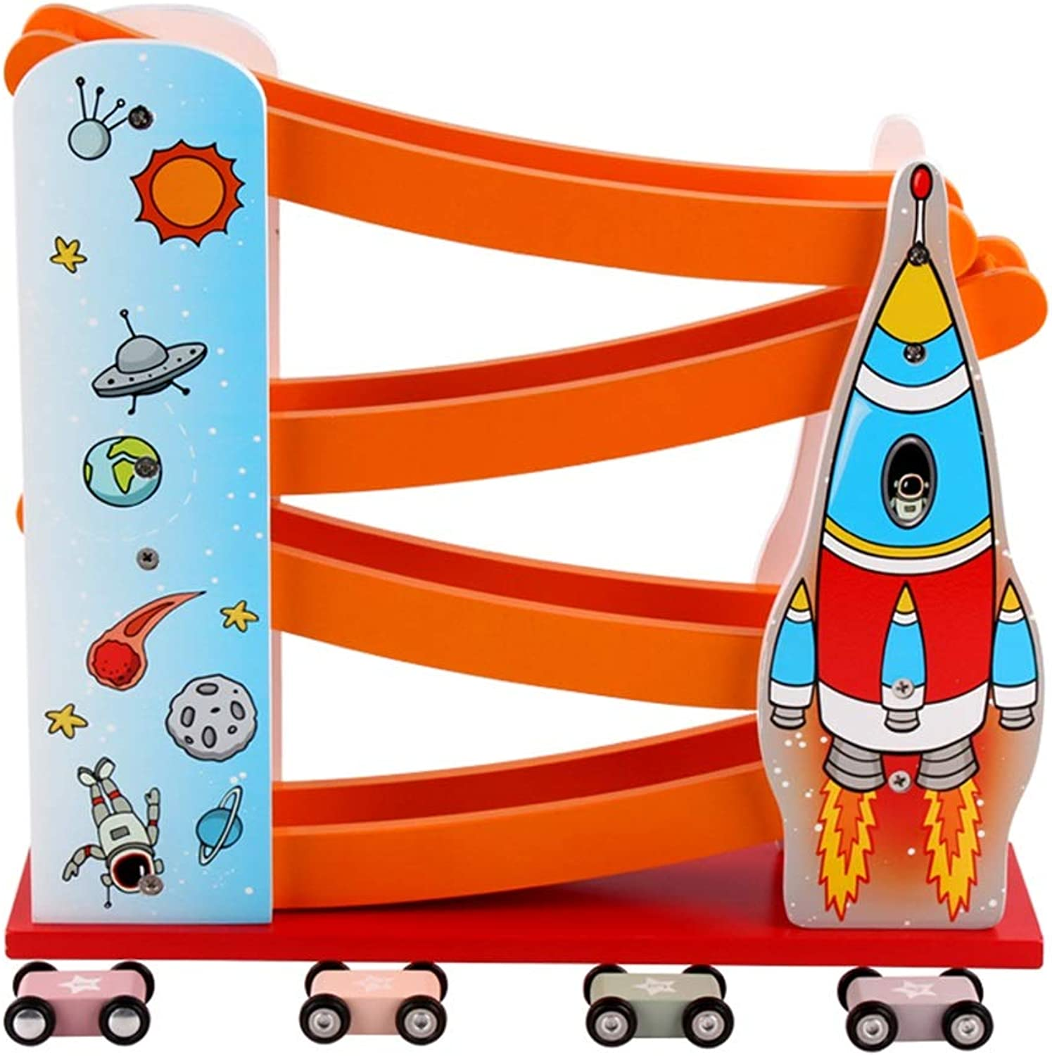 HAIZHEN Intellectual Toy Gliding car 1-2-3 Years Old Railway car boy inertial Pull Back car colorful 2 Style Boy and Girl Gifts (color   B)