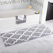 ESUPPORT Doormat Modern Geometric Pattern Bathroom Rug Outdoor Entrance Floor Mats Carpet Foot Pad Non Slip, Gray