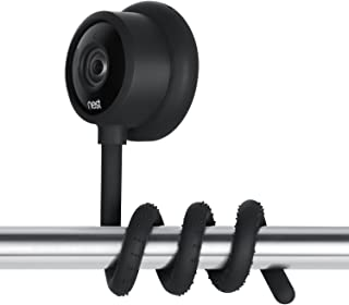 Wasserstein Versatile Twist Mount for Nest Cam Indoor, Flexible Gooseneck-Like Mount for Nest Indoor Camera - Attach Your Nest Cam Indoor Wherever You Like Without Tools or Wall Damage (Black)