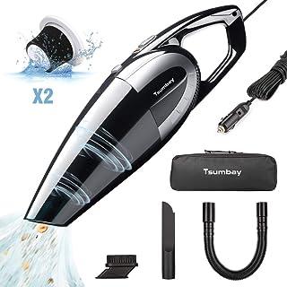 Tsumbay Aspirateur de Voiture Aspirateur Portable 12V 120W Aspi à Main Fort 5KPA..