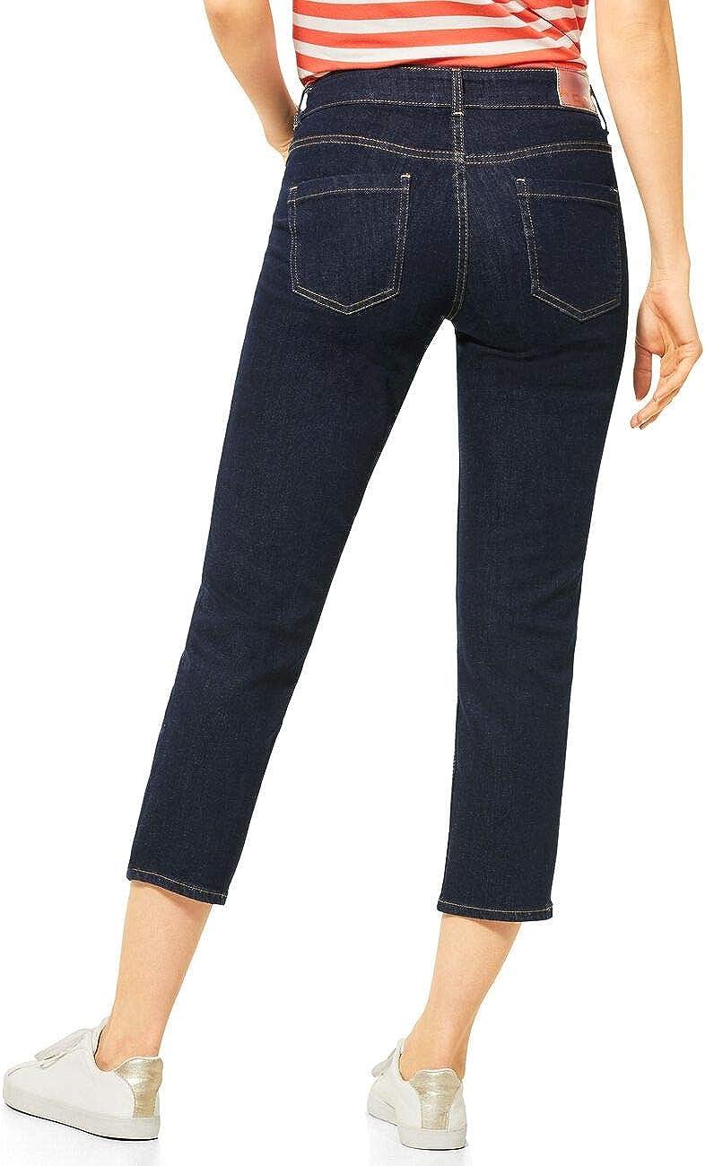 Cecil Jeans Femme Délavage Bleu Foncé