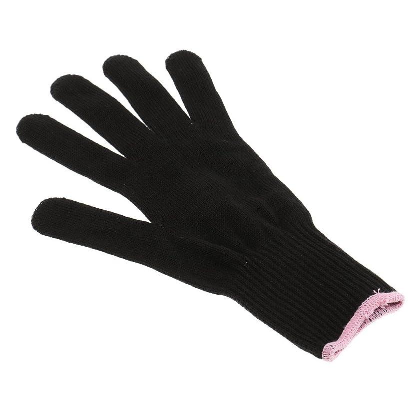 大聖堂少し郵便プロ 耐熱 手袋 ヘア アイロン スタイリング カール 両手適用 ストレートツール 美容用品 耐熱 保護 手袋 1枚
