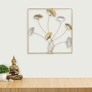 Home Centre Iliano Multi Ginko Leaf Wall Art - 30 x 30 cm
