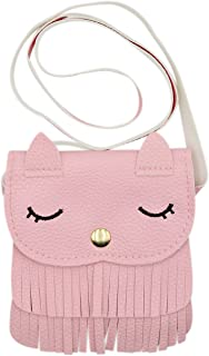 mossty Cute Cat Mini Tassel Bag Satchel Cross Body Bag Coin Candy Purse Messenger Bag