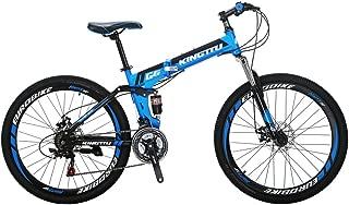Kingttu KTG6 Mountain Bike 21 Speed 26 Inches Dual Suspension Folding Mountain Bike