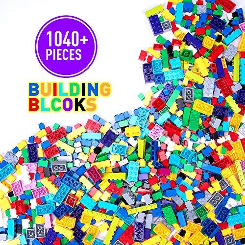 WYSWYG Bloques de Construcción 1040 Piezas Compatible con Todas Las Classic Marcas Incluidos 8 Tipos Colores y 16 Formas Ladrillos para Niño de 6 Años Juguetes