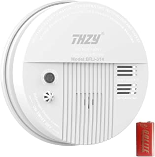 Smoke & Carbon Monoxide Alarm, THZY Battery Operated Carbon Monoxide CO Detector with Sound Warning