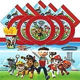 PAW PATROL - Lote de artículos de Fiesta, diseño de Patrulla Canina (para 8 Invitados)
