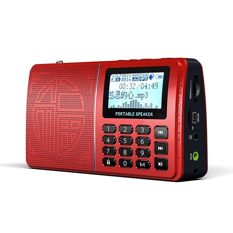 球体息子アクティビティポータブルミニFMラジオ、充電式ポケットMP3音楽プレーヤー、緊急FM/MW/SWラジオサポートTFカード/USB/DC充電ポート/LED照明/ヘッドホンジャックZDDAB