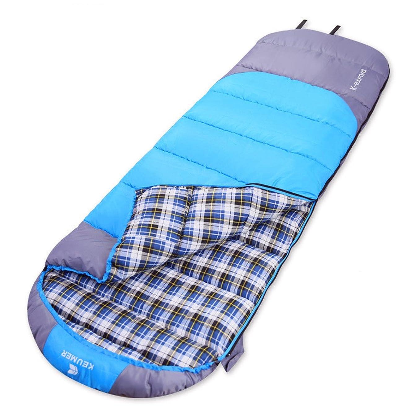 定規動機付ける父方の寝袋 バッグは、ポータブル暖かいフィールドポータブル封筒を温めスリーピングことは一緒にアウトドアキャンプ旅行は寝袋に適したワイルドダブル通気性のスリーピングバッグを戦うことができます 携帯便利