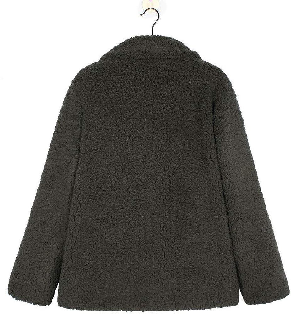 ESAILQ Damen Beiläufig Jacke Winter Warm Parka Outwear Mantel Außenmantel Armeegrün