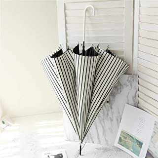 Household Umbrella Opaque Thickening Black Plastic Umbrella Rain and Rain Dual-use Umbrella Parasol Ergonomic Handle, Multi-Color Optional, A Variety of Optional HYBKY (Color : A)