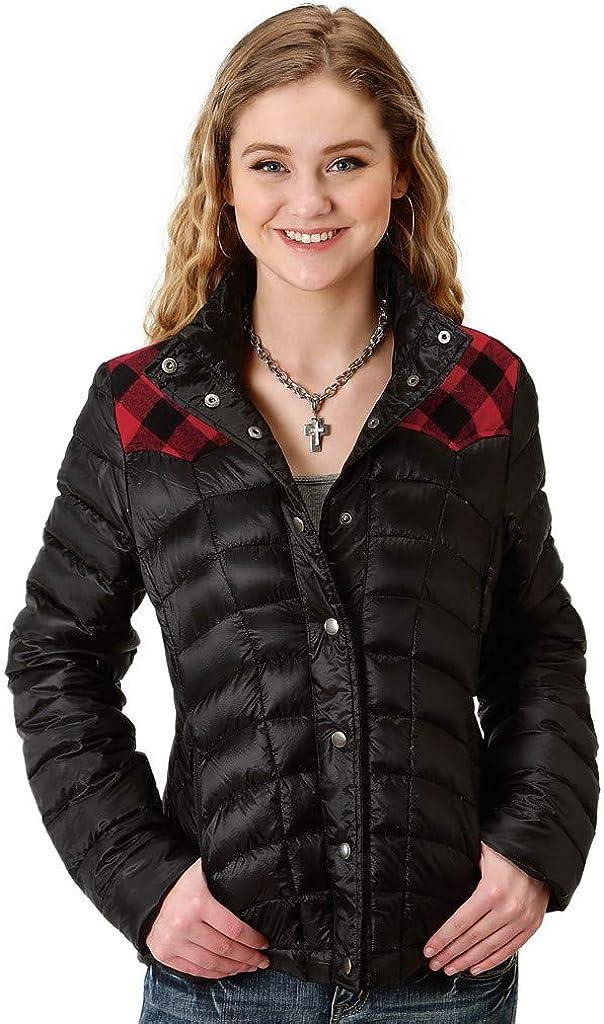Roper Western Jacket Womens Buffalo Check Snap 03-098-0630-7026 BL