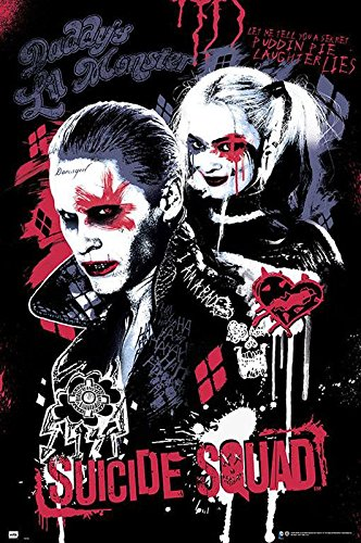 Close Up Póster Suicide Squad - Joker & Harley Quinn (61cm x 91,5cm) + Embalaje para Regalo