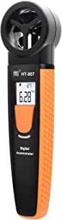 Bluetooth Digital Anemometer, Vane Anemometer with Smartphone Operation, Handheld 2-in-1 Wind Speed Meter for Measuring Wind Speed, Wind Temperature, Hti-Xintai