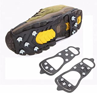 Outdoor Adventure Walk Hiking Shoes Traction Cleats, Anti-Slip Gear on Wet Mud, Ice and Snow