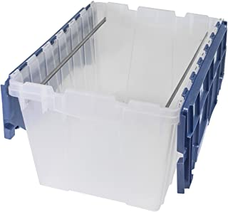 Akro-Mils 66486 FILEB 12-Gallon Plastic Storage Hanging File Box with Attached Lid, 21-1/2-Inch by 15-Inch by 12-1/2-Inch, Semi-Clear, Pack of 1