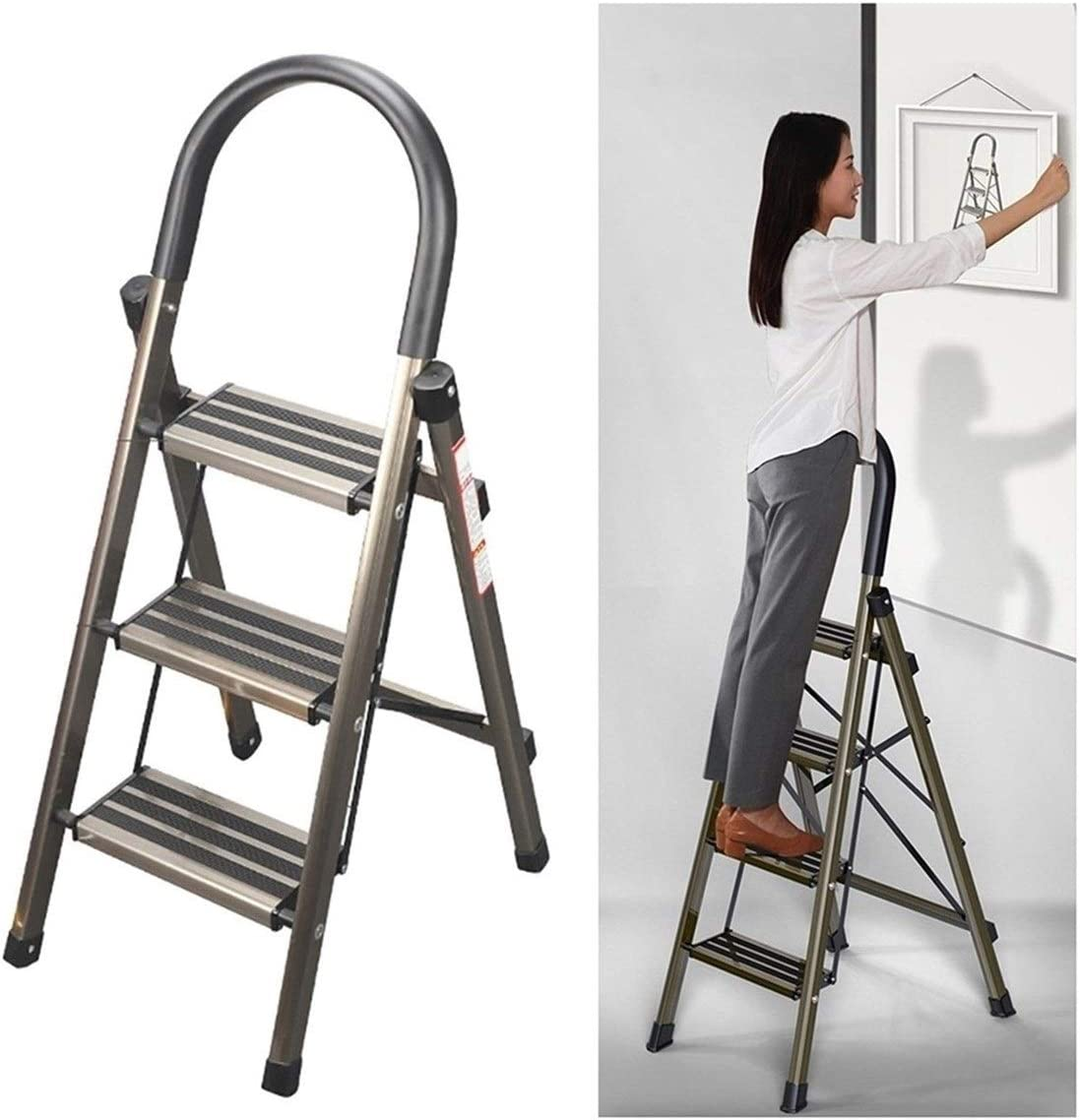 Hailong 3-5 Superior Popular overseas Step Stool Ladder with Portable R Folding Anti-Slip