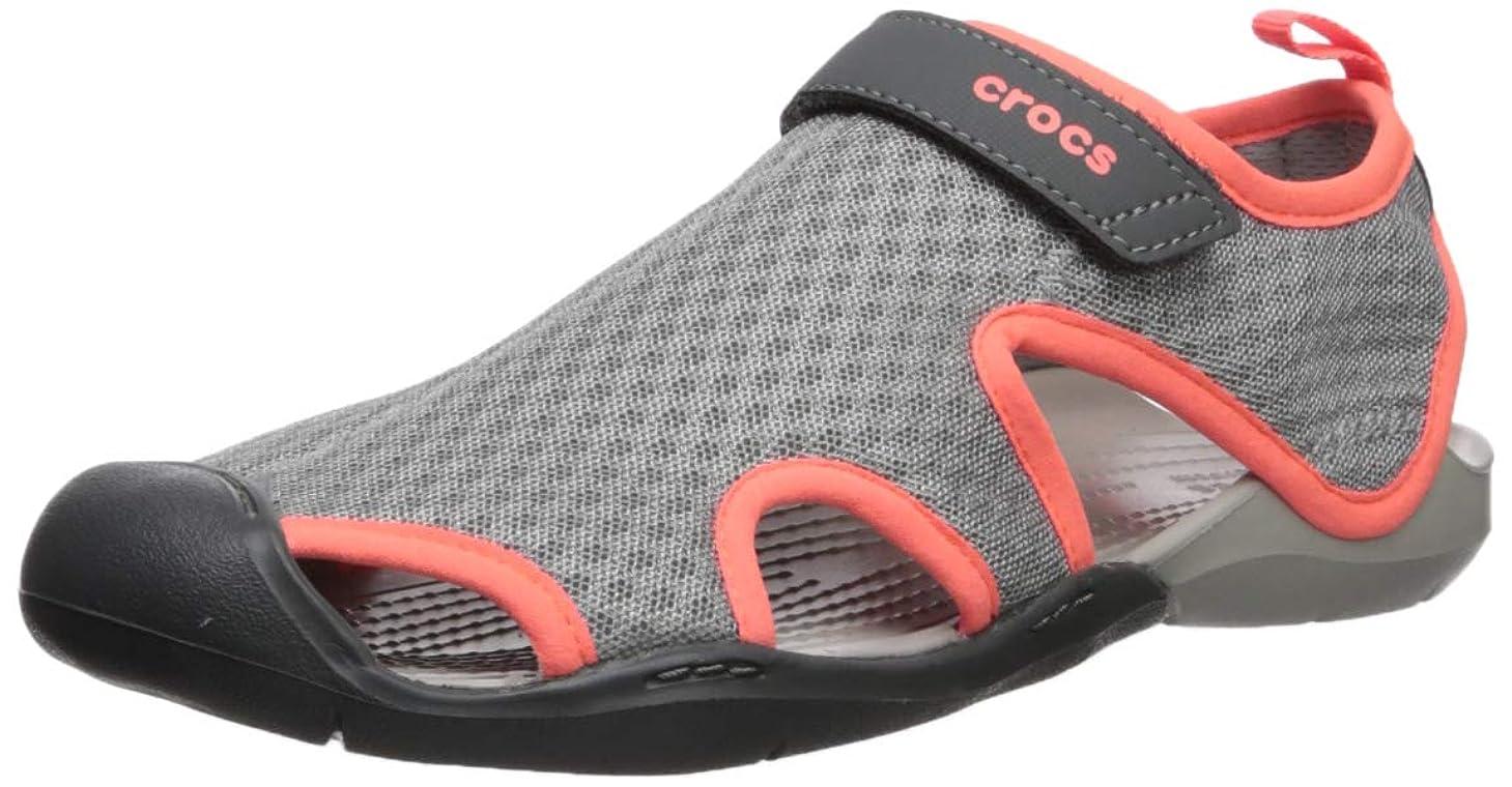 光沢神聖利用可能[Crocs] レディース - US サイズ: 4 M US カラー: グレー