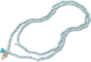 NOVAS Long Bead Necklace for Women 60