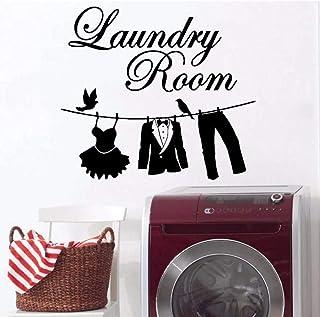 Stickers muraux en vinyle décoration murale machine à laver buanderie décoration étanche art costume pantalon costume vête...