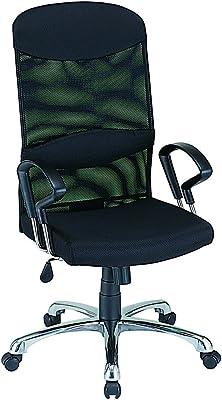 ナカバヤシ ネットチェア ハイバック オフィスチェア 椅子 ブラック RZS-102BK