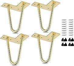 10cm Haarnadel Tischbeine 4 La Vane 4 St/ück Modern-Stil DIY Metall M/öbelf/ü/ße Hairpin Legs mit Bodenschoner /& Schrauben f/ür Schreibtisch Schrank Nachtst/änder