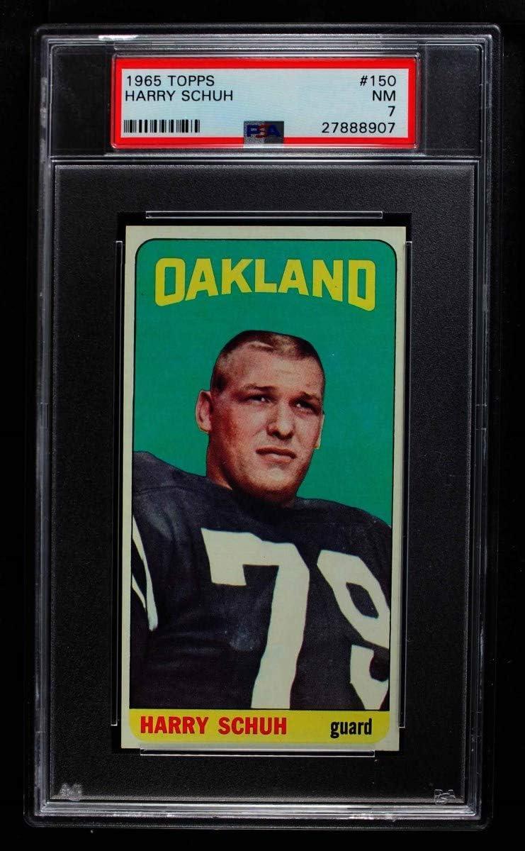 1965 Topps # 150 Free shipping Brand new Harry Schuh PSA Football Oakland Card Raiders
