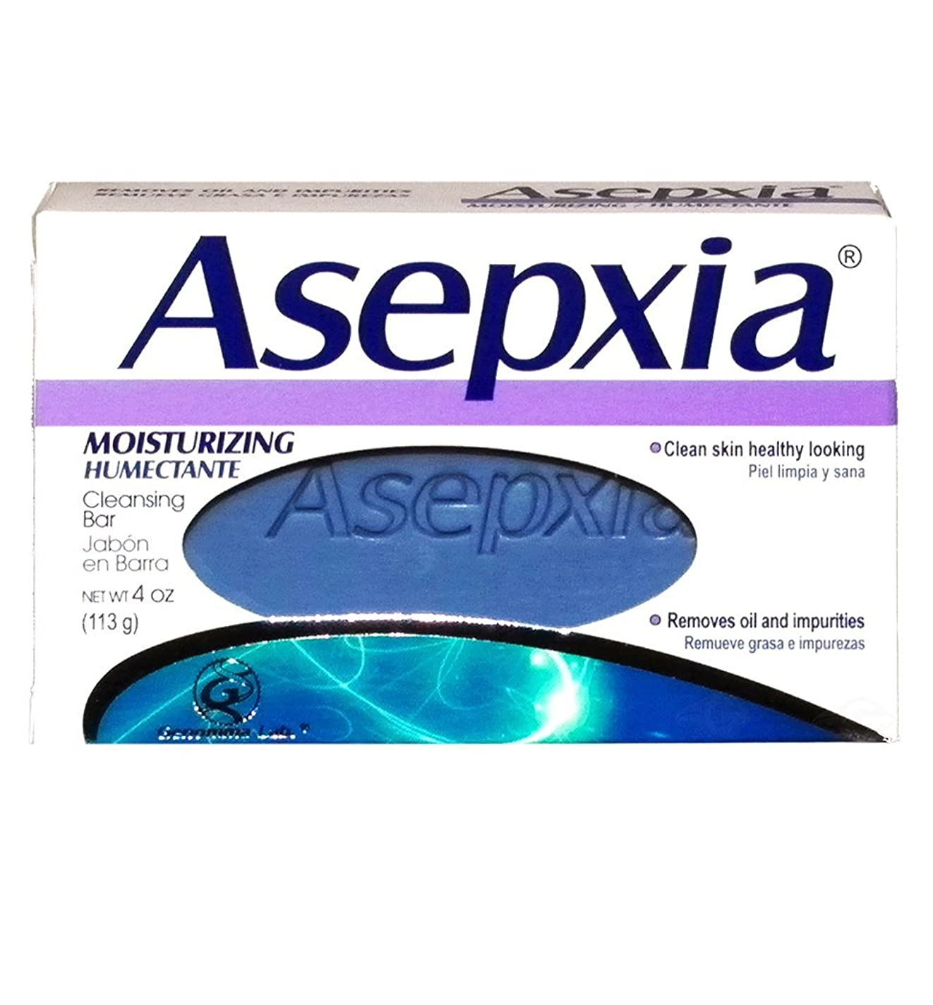 強風近傍正しいAsepxia Moisturizing Soap 3.53 oz - Jabon Humectante by Asepxia [並行輸入品]